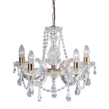 Searchlight Marie Therese 5 Lights Brass Traditional Chandelier Ceiling Light