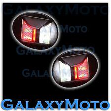 91-00 Ford F150 White LED License Plate+Red Brake LED Rear Facing Running Lights
