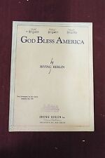 God Bless America by Irving Berlin - Sheet Music - 1938