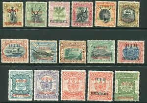North Borneo 1901-05 part set 1c-$2 SG 127-143 hinged mint (cat. £570)