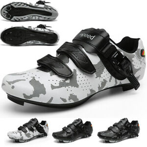 Men's Professional Cycling Shoes Camouflage Mountain Bicycle Sneakers SPD Cleats