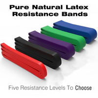 Natural Latex Loop Resistance Bands Pull Up Assist Band Exercise Gym Fitness