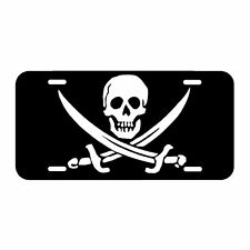 Jolly Roger  Flag License Plate Made In The USA Metal New car tag pirate skull