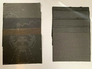 30 Vintage Lite Brite REFILL SHEETS Free Form  Replacement Lot 5 Designs