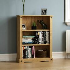 Vida Designs Low Solid Bookcase - Solid Pine Wood