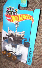 HOT WHEELS Mars Rover Curiosity NASA 71/250 dirty wheels HW City 2014 BLUE CARD