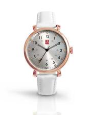 Prestige Medical Rose Gold White Leather Nurse Premium Watch
