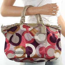 New Coach Madison Op Art Sophia Shoulder Bag Hand Bag Satchel 18636 New RARE