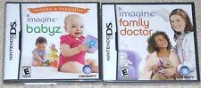 Nintendo DS Lot - IMAGINE Babyz & Family Doctor (New)