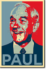 RON PAUL ART PHOTO PRINT 3 (BARACK OBAMA HOPE PARODY) POSTER GIFT LIBERTARIAN