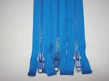 "3 - 27"" Parrot Blue # 5 Ykk Separating Plastic Teeth Zippers Lot #864"