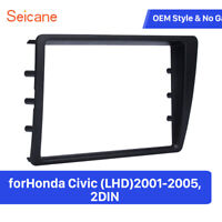 for 2001-2005 Honda Civic LHD 2Din Car Radio Fascia Dash Mount DVD Frame Auto