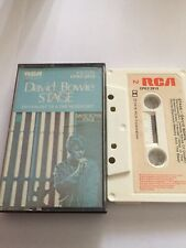 David Bowie Stage Paper Label Cassette