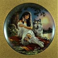 SOUL MATES Plate Together as One Russ Docken #1 Bradford Exchange Wolf Wolves