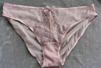Victoria's Secret SMALL *DREAM ANGELS* CHANTILLY LACE CHEEKINI *Mauve Shimmer*