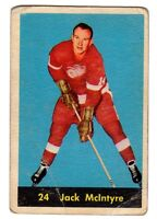 1X JACK MCINTYRE 1960 61 Parkhurst #24 VG- Detroit Red Wings