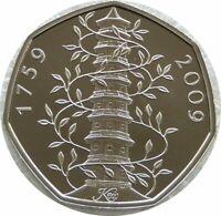 2019 Royal Mint Kew Gardens Pagoda BU 50p Fifty Pence Coin Uncirculated