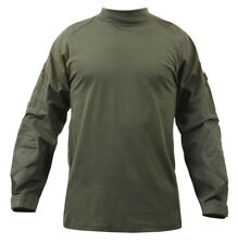 combat shirt olive drab military style various sizes rothco 90015