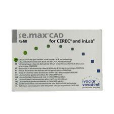IVOCLAR VIVADENT IPS E.MAX CAD CEREC MT A2 / C14 5 BLOCKS EMAX