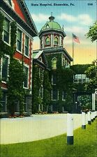 Coal Mining: State Hospital, Shamokin, Pa. 1940s Linen.