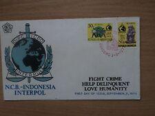 Indonesia 1973 3 Sept FDC Interpol 50th Anniv 50 Tahun