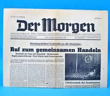 Der Morgen 08. Oktober 1958 zum 60. Geburtstag Hochzeit 08.10.1958 DDR 8.10.1958