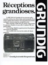 Publicité Advertising 097  1979   Grundig  radio-cassette RR 1040