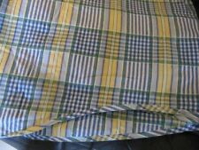 WAVERLY CLASSIC PLAID VALANCES BLUE-YELLOW-WHITE-GREEN BUCKINGHAM 2