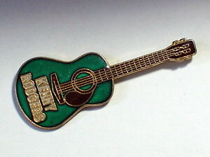 Vintage Kenny Rodgers Guitar Green Enamel Pin