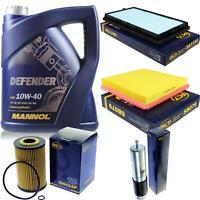Ölwechsel Set 5L MANNOL Defender 10W-40 Motoröl + SCT Filter KIT 10134892