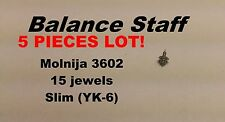 LOT OF 5 - Molnija Molnia 3602 Balance Staff 15 jewels movement - Factory Stock