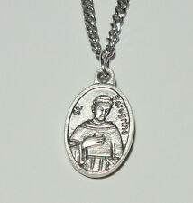 St Peregrine Relic Holy Medal on Chain Cancer AIDS Skin & Other Serious Diseases