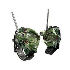 2pcs 2 Way Radio Walky Talky Wrist linx 2 Wrist Watch Toys Spy Children Outdoor