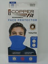 New Copper Fit Guardwell Face Protector Blue Youth One Size
