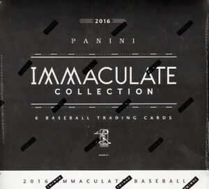 2016 PANINI IMMACULATE COLLECTION BASEBALL 8 BOX HOBBY CASE FACTORY SEALED NEW