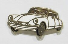 PINS AUTO CITROEN DS BLANCHE METAL EMAILLE