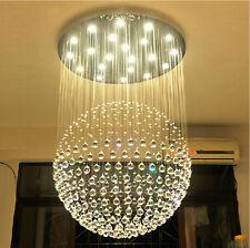Modern Rain Drop LED Crystal Chandelier Sphere Lamp Dining Room Lighting Fixture