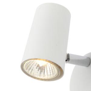 CGC White Spotlight Adjustable Ceiling Wall Light Chrome Single LED Spot Light