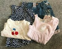 BUNDLE GIRLS 3 - 6  MONTHS CLOTHES PREWORN DRESS TOP  NEXT JEANS