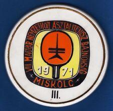 VII. Hungarian international table tennis champion 1971 Miškolc, plaque !