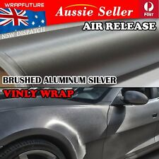 Vinyl Film Car Wrap Brushed Aluminum Silver Steel Metallic Overlay 1.51M x 30CM
