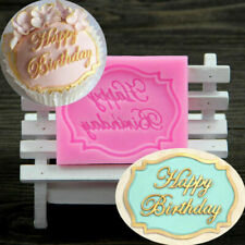 HAPPY BIRTHDAY Letter Silicone Fondant Cake Topper Mold Chocolate Baking Mould