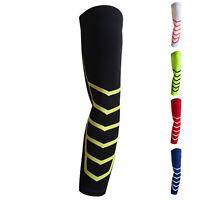 1Pc High Elastic Dry Sport Elbow Arm Warmers Pad Long Arm Sleeve Support Ba F6U1