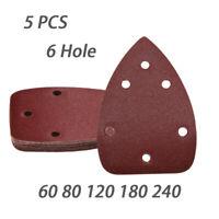 """Grit 60 80 120 180 240 6 Hole Sanding Discs 6/"""" Sandpaper Sets for Dremel"""