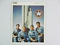 NASA Photograph Shuttle Columbia STS 5 Allen Brand Overmyer Lenoir 8 x 10