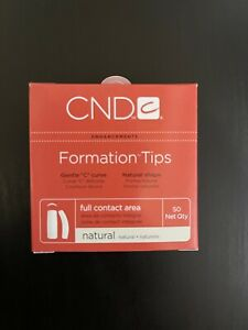 CND Formation Natural NAIL TIPS for Acrylic UV Gel Size #1-10 50 Refill