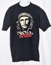 "Che Guevara Comandante Cuban Revolt Black 2XL 46"" Hand Painted Graphic T Shirt"