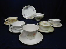 """Mixed Lot Vtg Mid Century """"Mad Hatter Tea Party"""" Set (6) Cups Saucers Lot B25"""