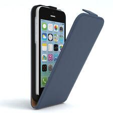 Tasche für Apple iPhone 5C Flip Case Schutz Hülle Handy Cover Dunkelblau