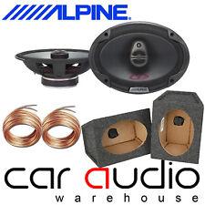 "Alpine SPG-69C3 3-Way 6x9"" 700 Watts Car Speakers & 6x9 Grey Pod Box (Pair)"
